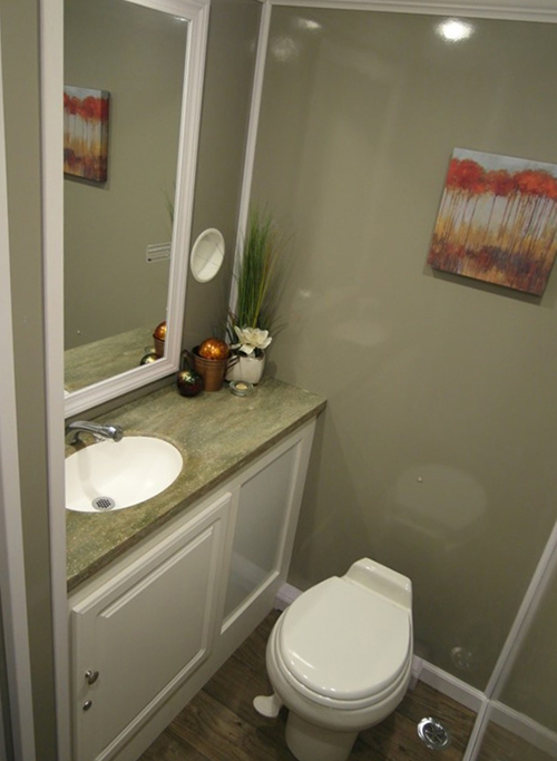 Enjoy all the comforts of home in our luxurious VIP restroom trailers